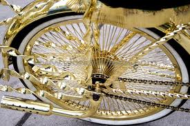gold bicycle